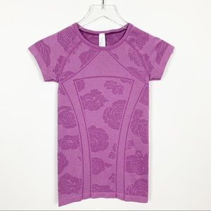ivivva | Fly Tech Short Sleeve Rose Print Top